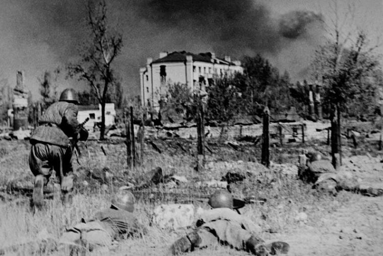 The defense of Stalingrad. 1942