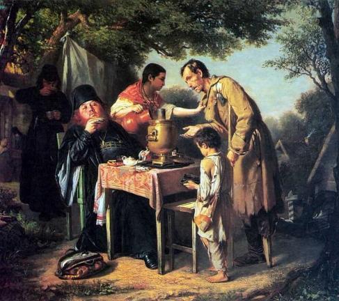 Перов Василий Григорьевич. «Чаепитие в Мытищах, близ Москвы» 1862 г.