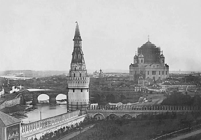 1856 г.  Строительство Храма Христа Спасителя.