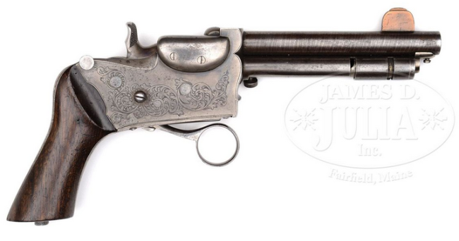 The strangely proportioned and mechanically unusual Berger repeating pistol