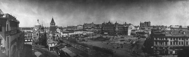 Вид на Лубянскую площадь в начале 20 века.