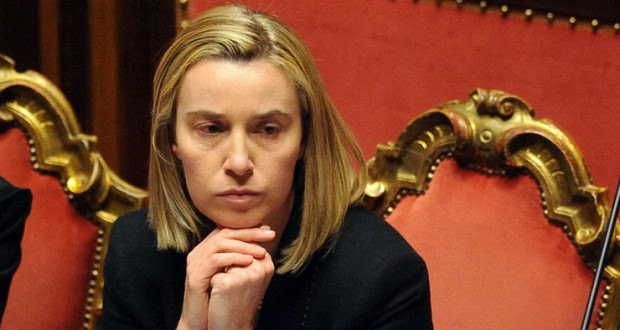 ITALY 24/02/2014 ROME, SENATE : VOTE OF CONFIDENCE TO RENZI' S GOVERNMENT - (PICTURED) FEDERICA MOGHERINI MINISTER OF FOREIGN AFFAIRS CREDIT ? MARI/SINTESIPhotoshot/REPORTER