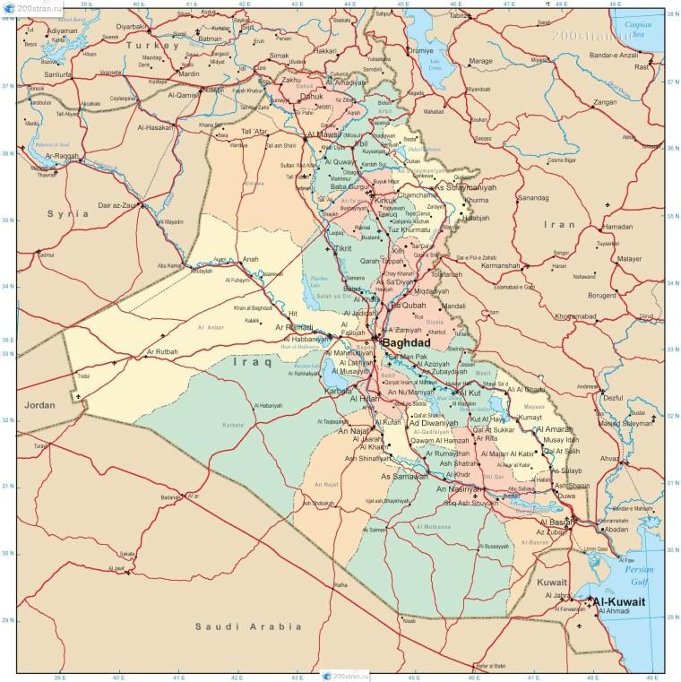 Ирак-административная-карта
