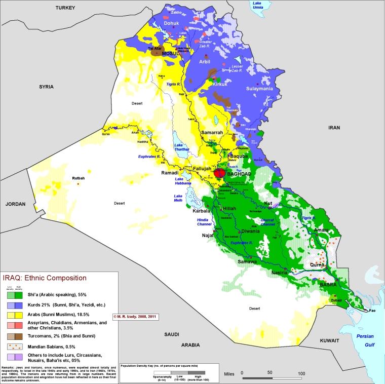 Ирак-карта-национальностей