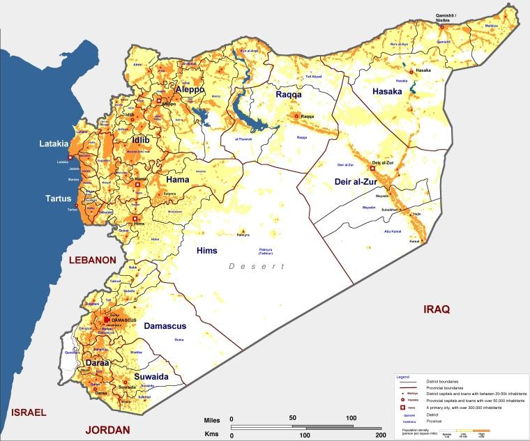 Сирия-плотность-населения