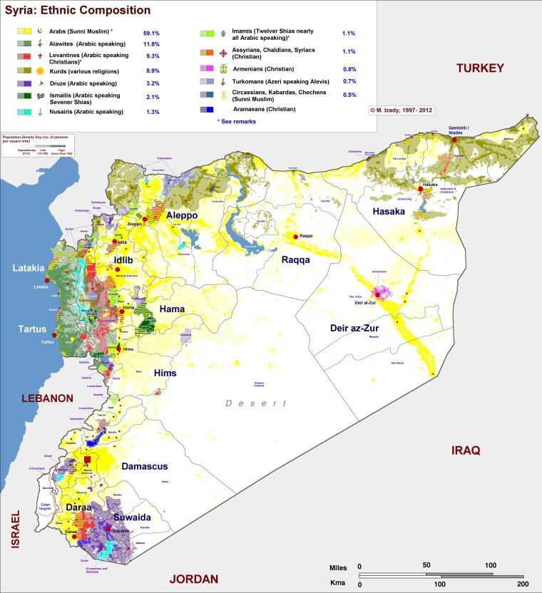 Сирия-этническая-карта