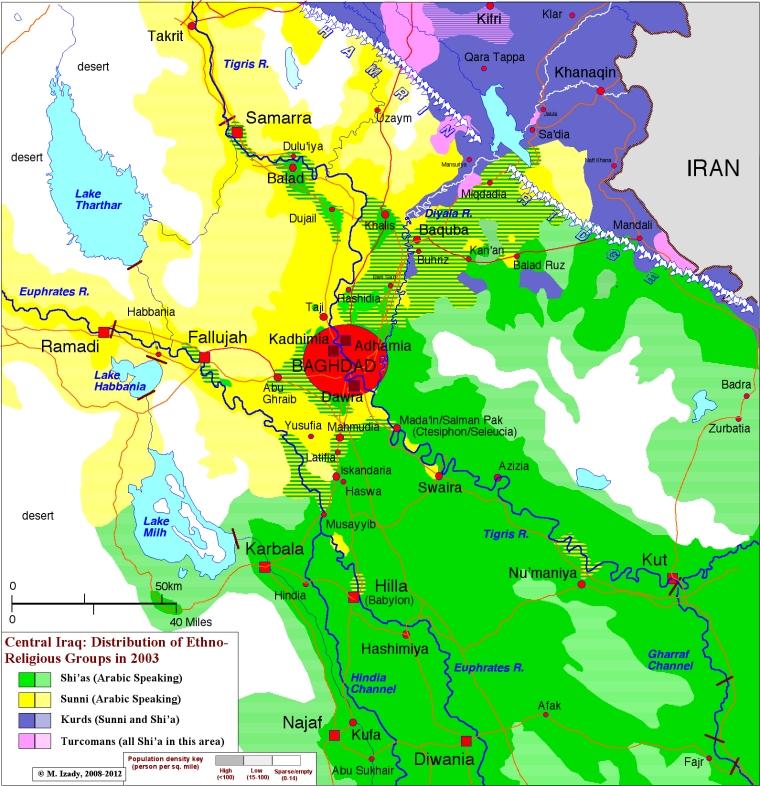 Центральный-Ирак-этническая-карта