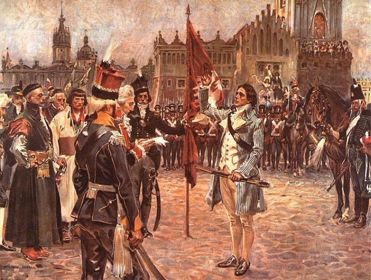Костюшко клянется на площади в Кракове. Войцех Коссак