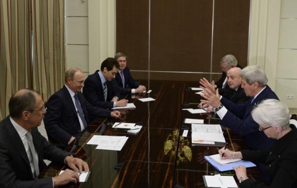 На переговорах с президентом РФ Владимиром Путиным