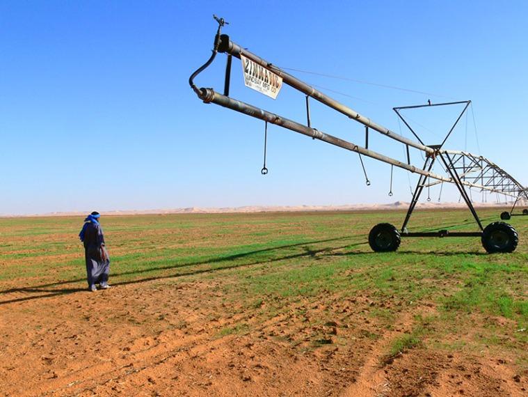 Amerikanische Bewässerungsanlage in Libyen
