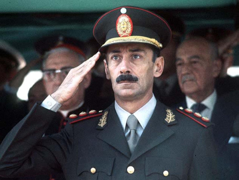 Undated file photograph showing former Argentine dictator Jorge Rafael Videla in Buenos Aires. Jorge Rafael Videla passed away in Argentina on May 17, 2013 at the age of 87. AFP PHOTO/NASTR/AFP/Getty Images