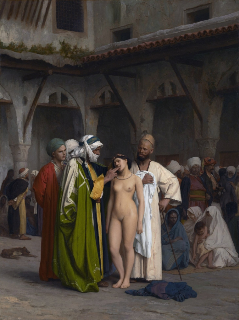 Slave market *oil on canvas *84.6 x 63.3 cm *signed b.r.: J.L. GEROME *1866
